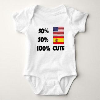 Body Para Bebê Espanhol do americano 50% de 50% 100% espanhas