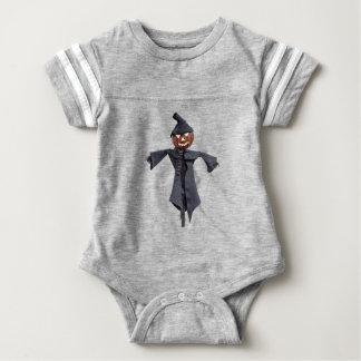 Body Para Bebê Espantalho de Jack O com olhos brilhantes