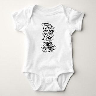 Body Para Bebê Esperança no senhor Escovadela Roteiro