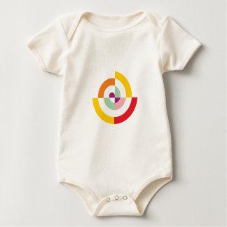 Body Para Bebê Espiral colorida