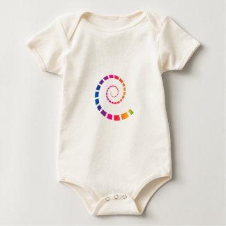 Body Para Bebê Espiral multicolorido