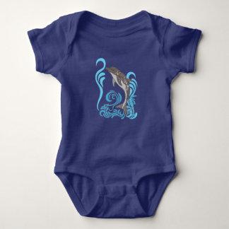 Body Para Bebê Espirro do golfinho