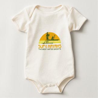 Body Para Bebê Esportes de água do SUP e do caiaque retros