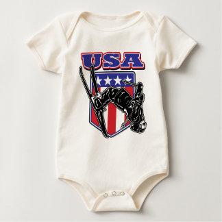 Body Para Bebê Esquiador EUA