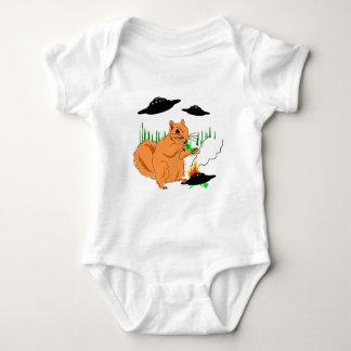 Body Para Bebê Esquilo contra aliens
