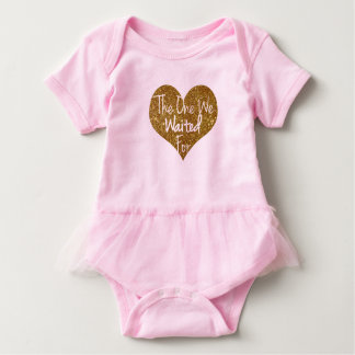 Body Para Bebê Esse que nós Prayed para o coração Onsie do brilho