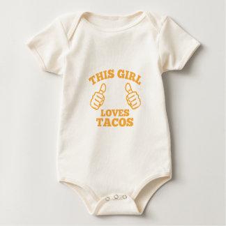 Body Para Bebê Esta menina ama o Tacos