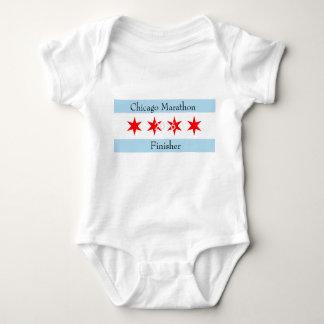 Body Para Bebê Estação de acabamento 2016 da maratona de Chicago