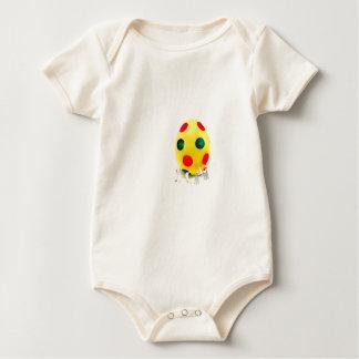 Body Para Bebê Estatuetas diminutas que pintam o ovo da páscoa