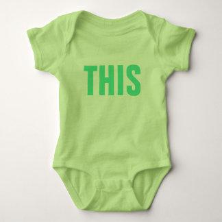Body Para Bebê ESTE do humor social dos meios do calão do
