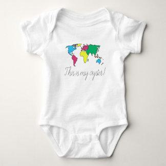 Body Para Bebê Este é meu Bodysuit da criança do bebê do mapa do