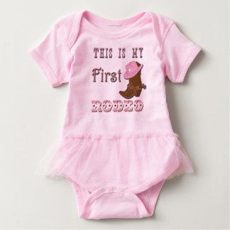 Body Para Bebê Este é meu primeiro tutu do bebê da menina do