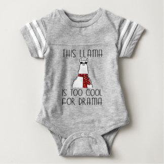 Body Para Bebê Este lama é demasiado legal para o drama