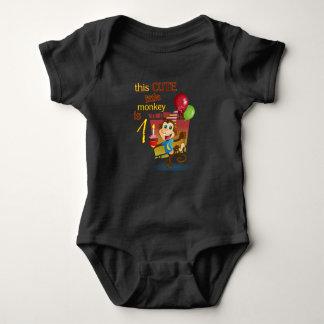 Body Para Bebê Este macaco pequeno bonito é 1
