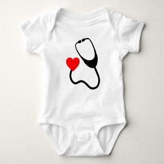 Body Para Bebê Estetoscópio com coração