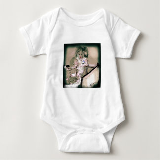 Body Para Bebê Estilo do vintage da captura da ucha