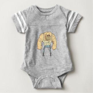 Body Para Bebê Estilo esboçado da história em quadrinhos da