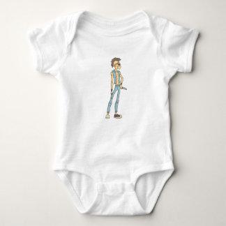 Body Para Bebê Estilo esboçado da história em quadrinhos do punk