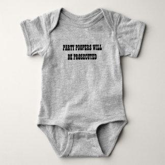 Body Para Bebê Estilo ocidental de Pooper do partido engraçado do