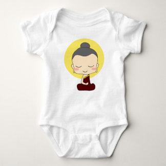 Body Para Bebê Estilo pequeno de Buda do zen um