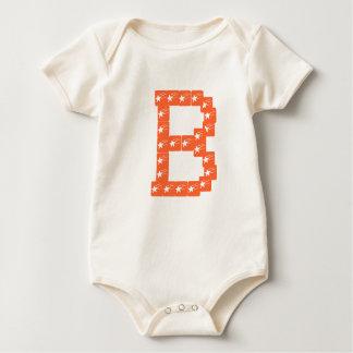 Body Para Bebê Estrela B, Bodysuit orgânico da equipe B