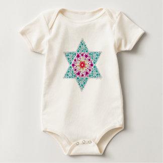 Body Para Bebê Estrela de David Magen David da cor