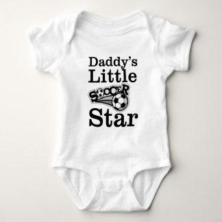 Body Para Bebê Estrela de futebol do pai pouca