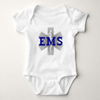 Body Para Bebê Estrela de prata da vida com EMS azul