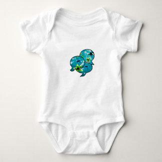 Body Para Bebê Estrela do mar e flores de néon adoráveis nas