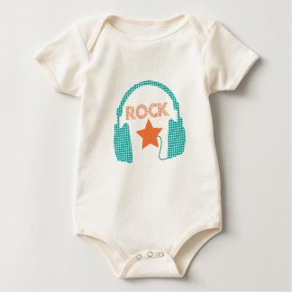 Body Para Bebê Estrela do rock