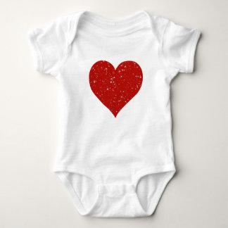 Body Para Bebê Estrelas do brilho - vermelho de prata