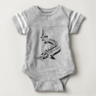 Body Para Bebê Esturjão tribal - beluga de Huso