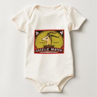 Body Para Bebê Etiqueta sueco da caixa de fósforos da gazela