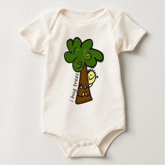 Body Para Bebê Eu abraço árvores: Bebê orgânico