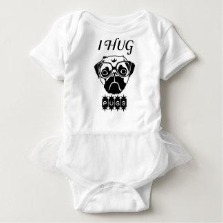 Body Para Bebê eu abraço pugs