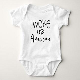 Body Para Bebê Eu acordei o T impressionante do bebê