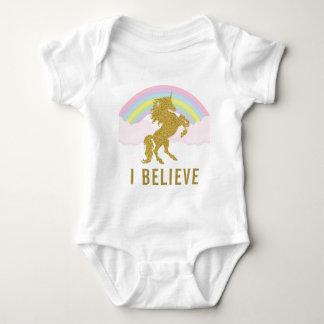Body Para Bebê Eu acredito o Romper do bebê do unicórnio