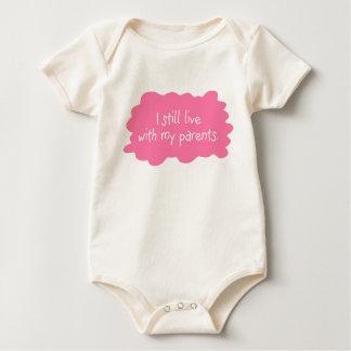 Body Para Bebê Eu ainda vivo com meus pais (a menina)