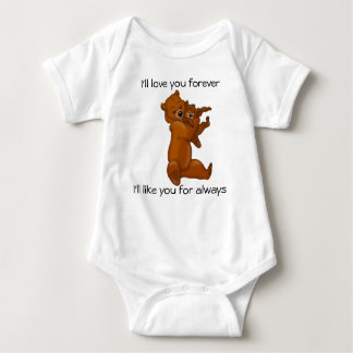 Body Para Bebê Eu amá-lo-ei para sempre roupa do bebê