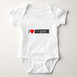 Body Para Bebê Eu amo a arquitetura
