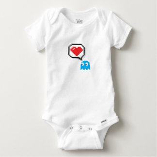 Body Para Bebê EU AMO a arte do pixel de NOOBS