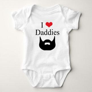 Body Para Bebê Eu amo a barba dos pais