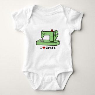 Body Para Bebê Eu amo a máquina de costura de Kawaii do ofício