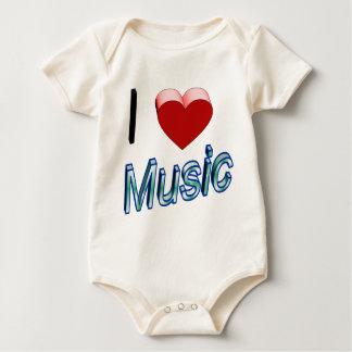 Body Para Bebê Eu amo a música 2