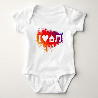 Body Para Bebê Eu amo a música da casa