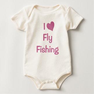 Body Para Bebê Eu amo a pesca com mosca