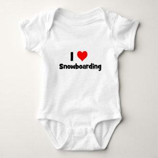 Body Para Bebê Eu amo a snowboarding