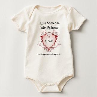 Body Para Bebê Eu amo alguém com epilepsia - meu pai