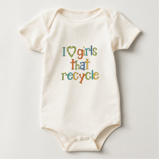 Body Para Bebê Eu amo as meninas que recicl