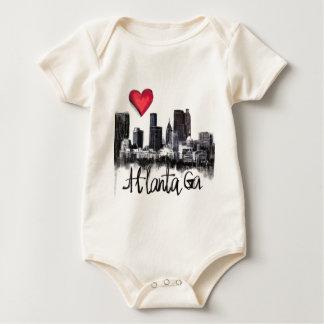 Body Para Bebê Eu amo Atlanta